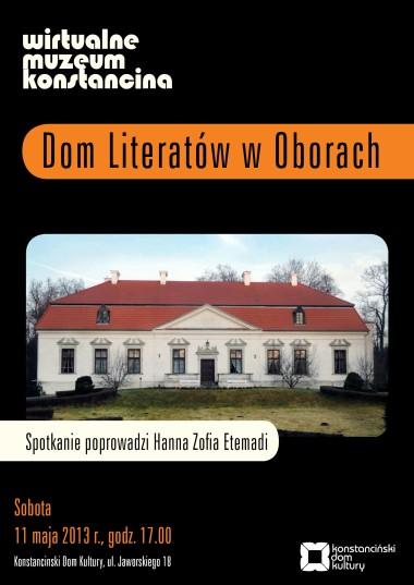 plakat_dom Literatyów OBORY
