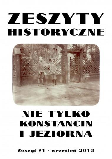 Zeszyty historyczne - nie tylko Konstancin i Jeziorna #1
