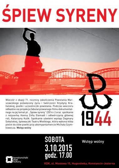 SPIEW SYRENY_plakat